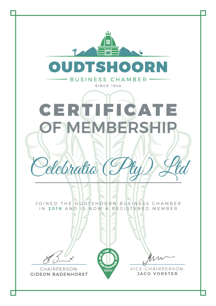 OBC Membership Certificates Celebratio