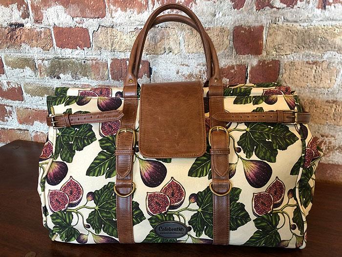 Weekender Fig Brown Leather